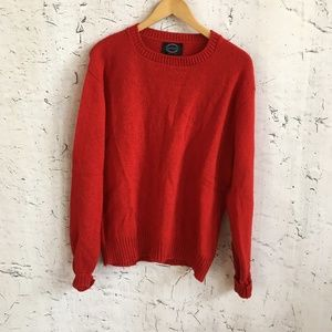 JANTZEN RED WOOL CREW NECK SWEATER